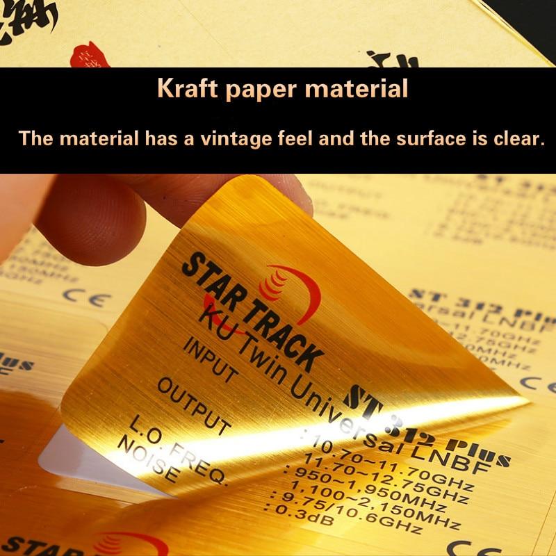 Custom Sticker ,Customized Stickers Logo, Trademark Color Printing, Transparent Decals, Milk Tea Cup PVC Kraft Paper TZDZ