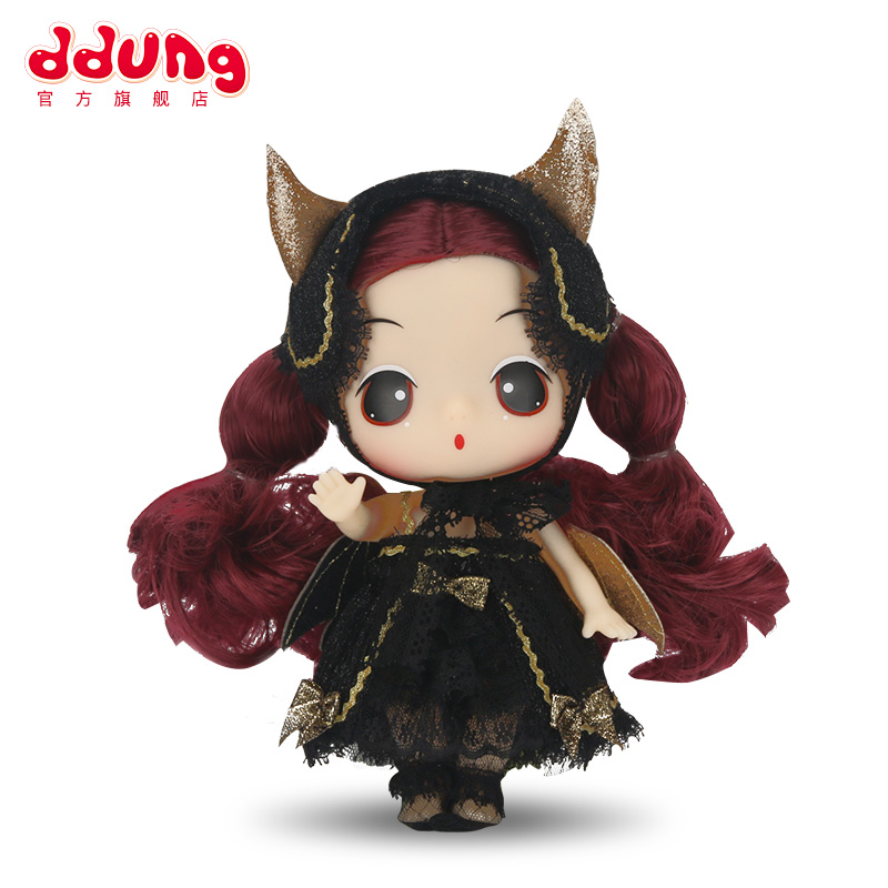 Ddung Baby Doll Toys Demon 3Y+ Fashion Simulation 18cm Confused Soft Dress Up Cute Wing Girl Birthday Gift