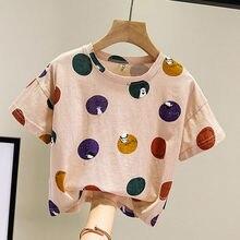 Baby T-Shirt Summer Clothes Korean-Girls Boys Short-Sleeved Cute P4053 Loose Polka-Dot