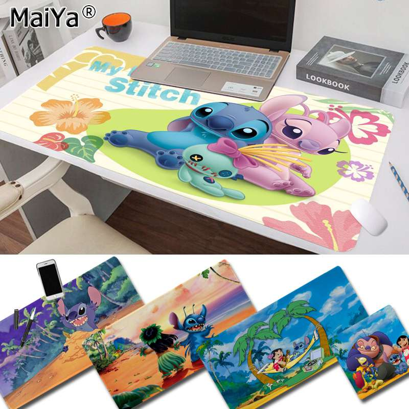 Maiya Your Own Mats Cute Stitch Laptop Gaming Mice Mousepad Free Shipping Large Mouse Pad Keyboards Mat