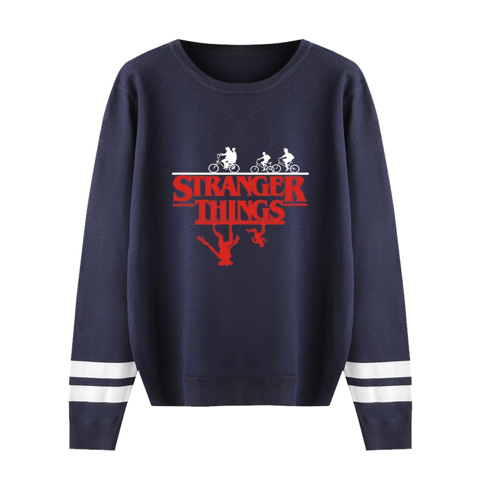 Stranger Things Black Sweater Men/women Autumn Winter Fashion Casual Sweater Print Stranger Things Pullover Streetwear Outwear