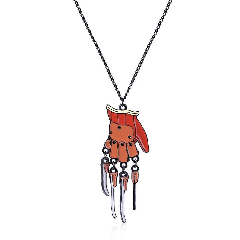 אמריקאי סיוט Elm Keychain תליון אבץ סגסוגת מפתח שרשרת לגברים נשים רכב keyring תכשיטים אבזרים
