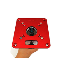 Universal Aluminium Router Table Insert Plate Woodworking Benches Wood Router Trimmer Models Engraving Machine for RT0700C cheap toohr Combination Wood Working Tool As Picture Show Red Orange Black