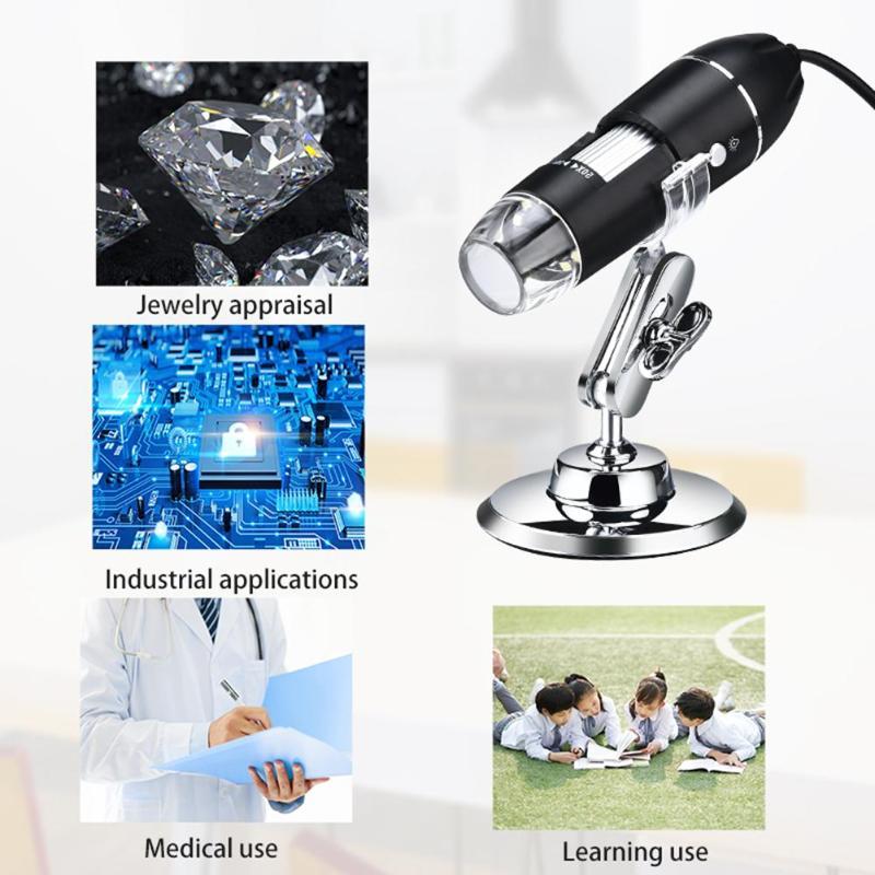1000X 1600X Wifi цифровой микроскоп, увеличительная камера, светодиодный электронный стерео эндоскоп, камера для Android ios, Wifi микроскоп