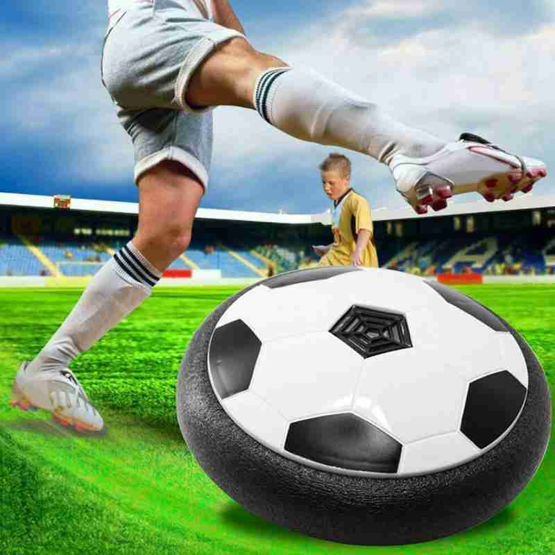 Electric Suspended Football Toy Children LED Light Mini Air Cushion Multi-surface Floating Football Gliding Interactive Toys