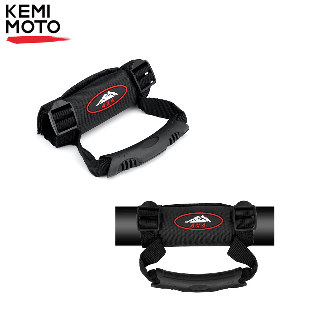 KEMiMOTO For CAN AM Commander Maverick 800 1000 UTV Roll Bar Grab Handle Hand Hanging For Polaris RZR 900 RZR XP 1000 For Honda