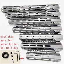 MLOK guardamanos flotación libre superfino ar 15 guardamanos Quad carril tuerca de acero para jinming 9 M4A1 de gel de agua bala pistola de bola de gel de juguete