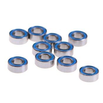 10PCS MR105-2RS ABEC-5 5x10x4 mm Miniature Ball Bearings Rubber Sealed Ball Bearing 10pcs high quality abec 5 mr117zz mr117 2rs smr117zz smr117 2rs 7 11 3 mm 7x11x3 mm miniature thin wall deep groove ball bearing