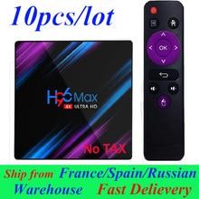 10pcs/lot H96 MAX Android TV Box Smart Box