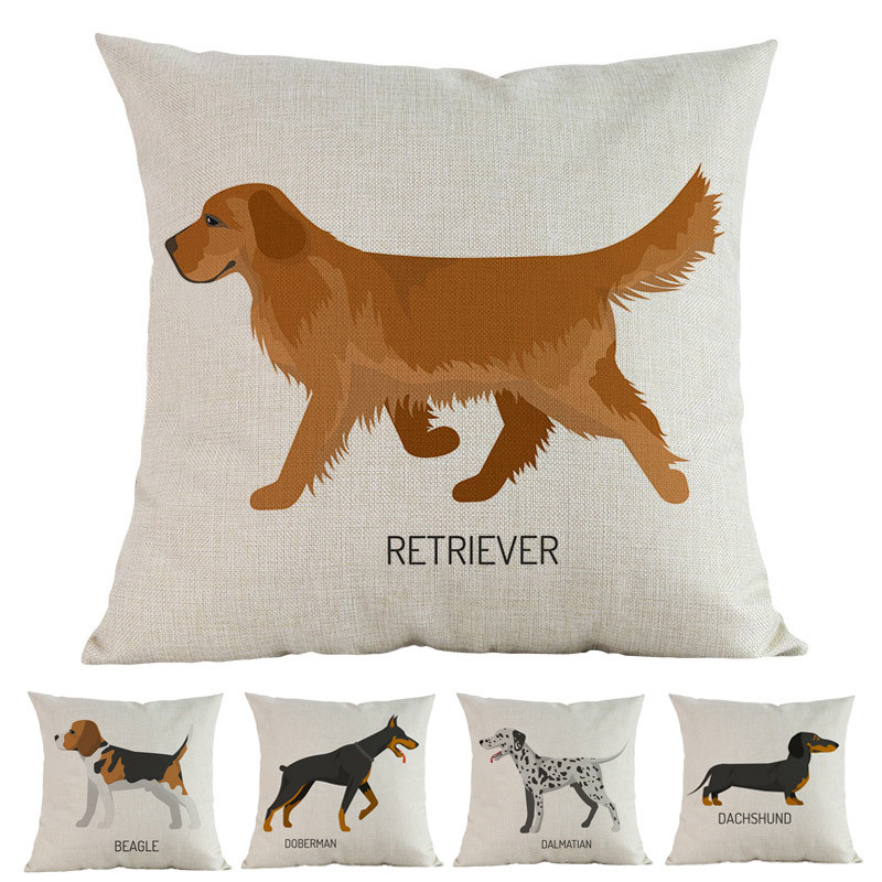 Watercolor-Style-Animal-Dogs-Breed-Beagle-Doberman-Dalmatian-Labrador-Poodle-Dane-Pillow-Case-Home-Sofa-Decoration
