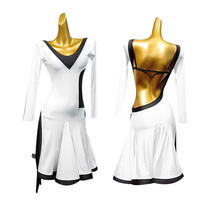 latin dance costumes for women salsa dance dress women dance wear tango costume white latin costumes with underpants backlesss