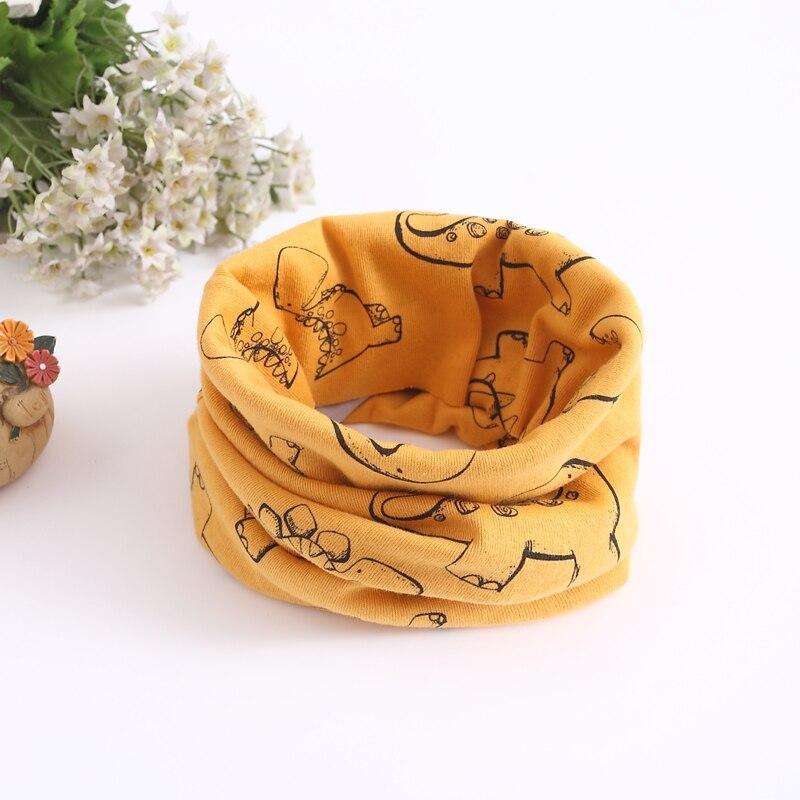 Детский хлопковый шейный шарф с милым принтом; детский теплый шарф; Детские воротники; осенне-зимний шарф-кольцо для мальчиков и девочек; аксессуары для детской одежды - Цвет: No.17