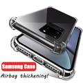 Противоударный чехол для телефона Samsung Galaxy A51 A71 A90 S6 S7 S8 S9 S20 21 Plus S10 Lite S21 Ultra S20 FE, силиконовый чехол, задняя крышка