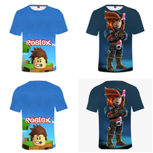 summer Comfortable Short sleeve t-shirt fashion cartoon Print Top Boys Girls Leisure Sweatshirt(China)