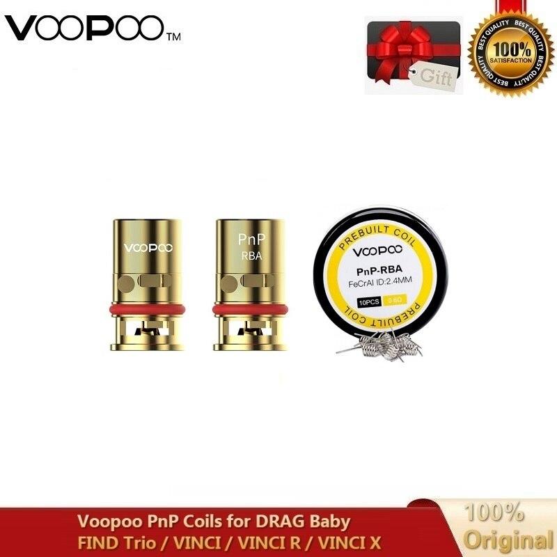 Original Voopoo PnP RBA Coil DIY MTL Half-DL Resistance PnP-RBA Prebuilt Wire 0.6ohm Rreplacement Core For VINCI VINCI R VINCI X
