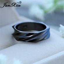 Anillo de oro negro de hombre antiguo Anillos de Compromiso de promesa minimalista Vintage para hombres mujeres anillo de pareja joyería Boho
