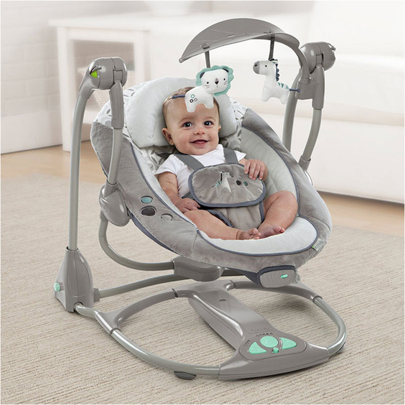 Newborn Gift Multi-function Music Electric Swing Chair Infant Baby Rocking Chair Comfort  Cradle Folding Baby Rocker Swing 0-3Y