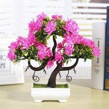 flores artificiais para decora o Artificial Plants Emulate Bonsai Wedding Decorative Flowers Fake Pot