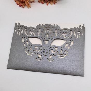 40pcs Wedding Invitation Card Mask Flamboyant Unnique Festival Grand Events Invitation Card