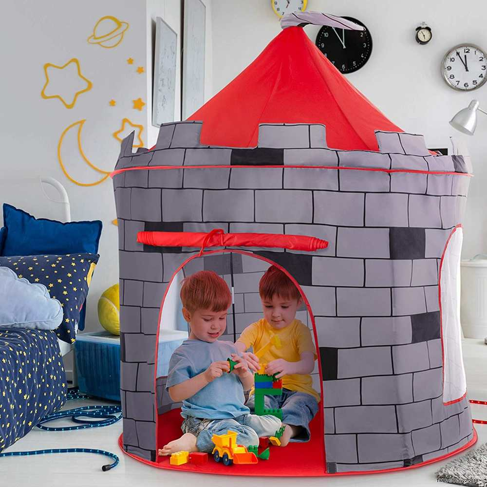 Kid Tent House Portable Folding Princess Castle 135*105cm Present Children Teepee Tent Play Toy Tents Birthday Christmas Gift