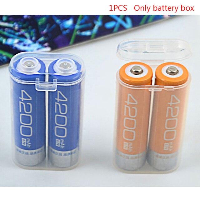 1PC 18650 סוללה נייד עמיד למים ברור מחזיק תיבת אחסון שקוף פלסטיק בטיחות מקרה עבור 2 חלקים 18650 סיטונאי