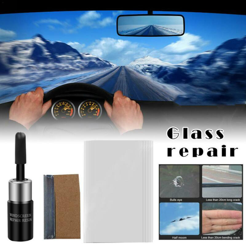 Car Broken Glass Magic Glass Repair Tool Kit For Cracked Phone Screen Car Windshield Broken Glass Car Accessories