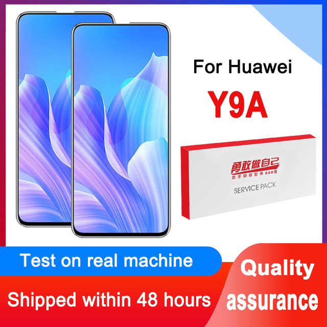 100% Tested 6.72 Display Replacement For Huawei Y9A IPS LCD Touch Screen Digitizer Assembly FRL 22 FRL 23 FRL L22 Repair Parts