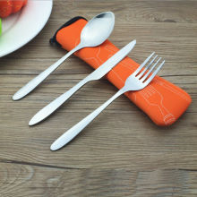 Travel Cutlery Utensils-Set Dinnerware-Set Spoon Case Fork/knife Camping-Tableware Stainless-Steel