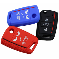Não toque minha chave 3 botões caso chave do carro escudo forvw golf 7 mk7 assento leon 3 ibiza 4 5 toledo 4 arona ateca skoda octavia|Estojo de chaves p/ carro| |  -