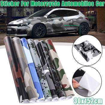 Camo Vinyl Film Car Wrap Camouflage Vinyl Wrapping Car Sticker Bike Console Computer Laptop Skin Scooter Motorcycle DIY Styling image