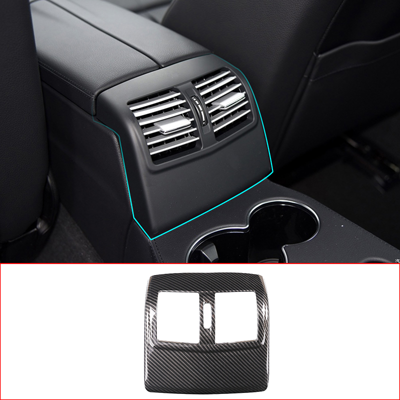 Car Interior ABS Rear Air Conditioning Vent Cover Trim Accessories For <font><b>Mercedes</b></font> <font><b>Benz</b></font> E Class W212 2012-2015 image