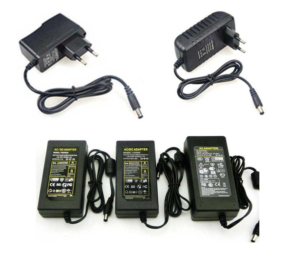 Adapter Lighting Transformers 220v to 12V 5V Power Supply 5 V Volt 1A 2A 3A 5A 6A 8A 10A AC DC Led