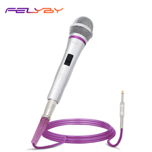 FELYBY Q-8 Wired Microphone for Home KTV Amplifier Audio Professional Stage Moving Coil with Line