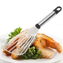 Лопатка, инструмент для приготовления рыбы, инструмент для приготовления рыбы, лопатка для кусочков рыбы, кухонная, дырявая, из нержавеющей стали, новинка