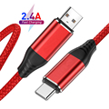 2.4A Fast Charger USB Type C Cable For Samsung S21 A51 USB C Cable Redmi note 10 pro Huawei Xiaomi 11 Fast Charging Phone Charge