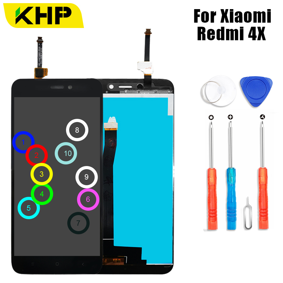 2019 KHP AAAA Original LCD For Xiaomi Redmi 4X Display Touch Screen Digitizer Replace For Xiaomi Redmi 4X LCD Screen in Mobile Phone LCD Screens from Cellphones Telecommunications