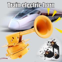 12V /24V 1280DB Super Loud Aviation Aluminum Train Track Horn No Need Compressor Car Trumpet for Truck Boat Train Lorry Vehicle