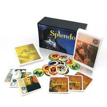 Splendor kart oyunları tahta oyunu İngilizce ve İspanyolca kuralları aile parti yetişkin finansmanı yatırım eğitim iş ekonomi
