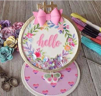 KSCRAFT Embroidery Hoop Nesting Set Metal Cutting Dies Stencils for DIY Scrapbooking/photo album Decorative Embossing Paper Card
