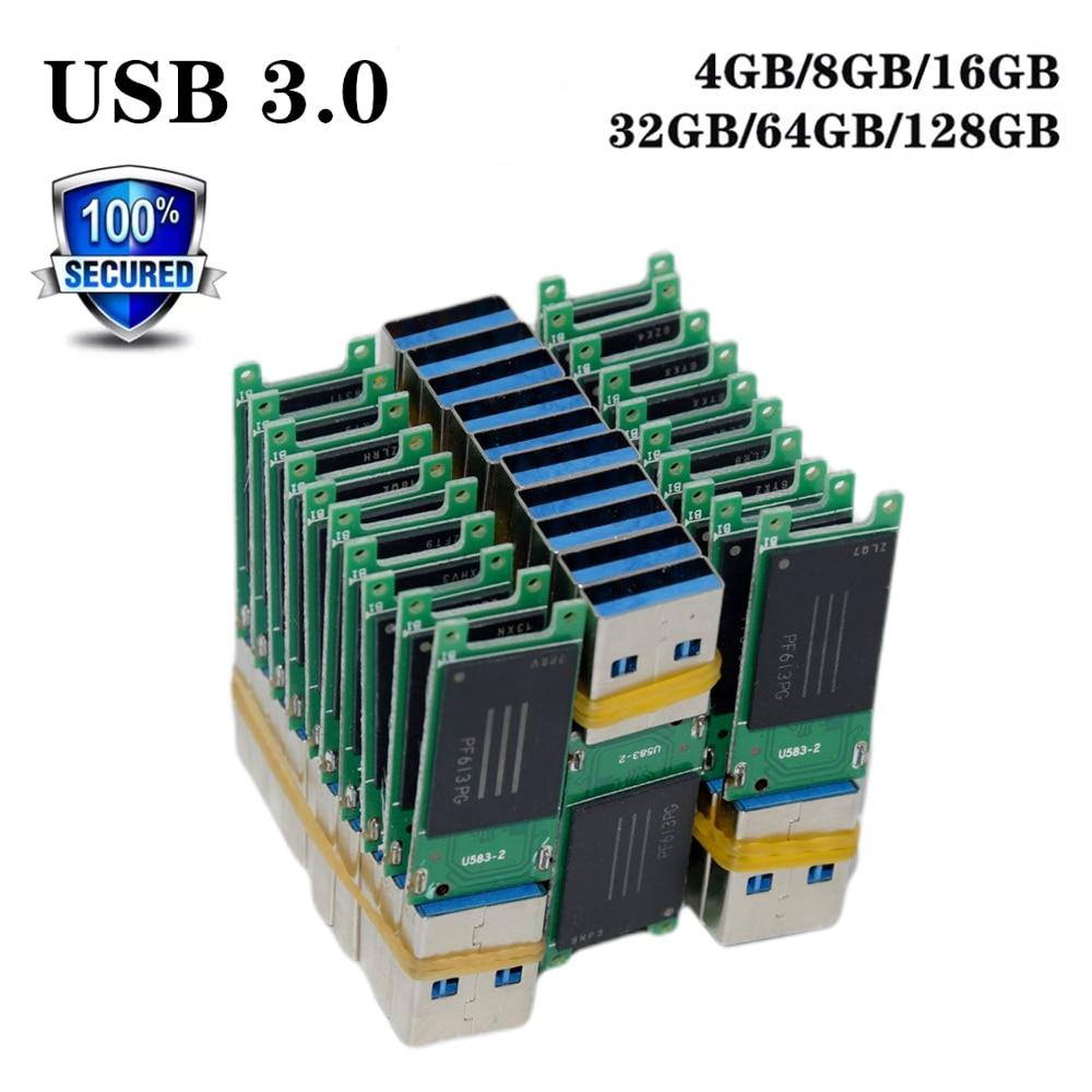 Pendrive Flash Memory Waterproof U-Disk Usb-3.0 16GB 8GB Chip 32GB 64GB Mental-Shell