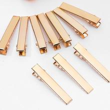 Barrette Hairpins Alligator Metal Flat Gold Diy-Accessories Women 10pcs Prong for Bows