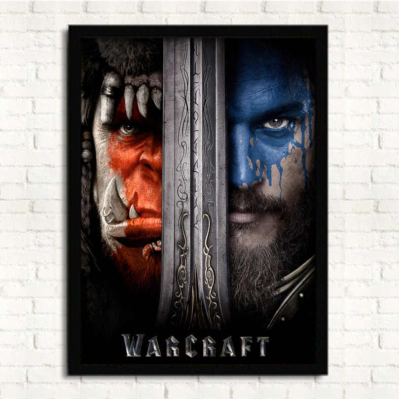 World Of Warcraft Wow Movie Poster Thrall And Varian Wrynn Hanging