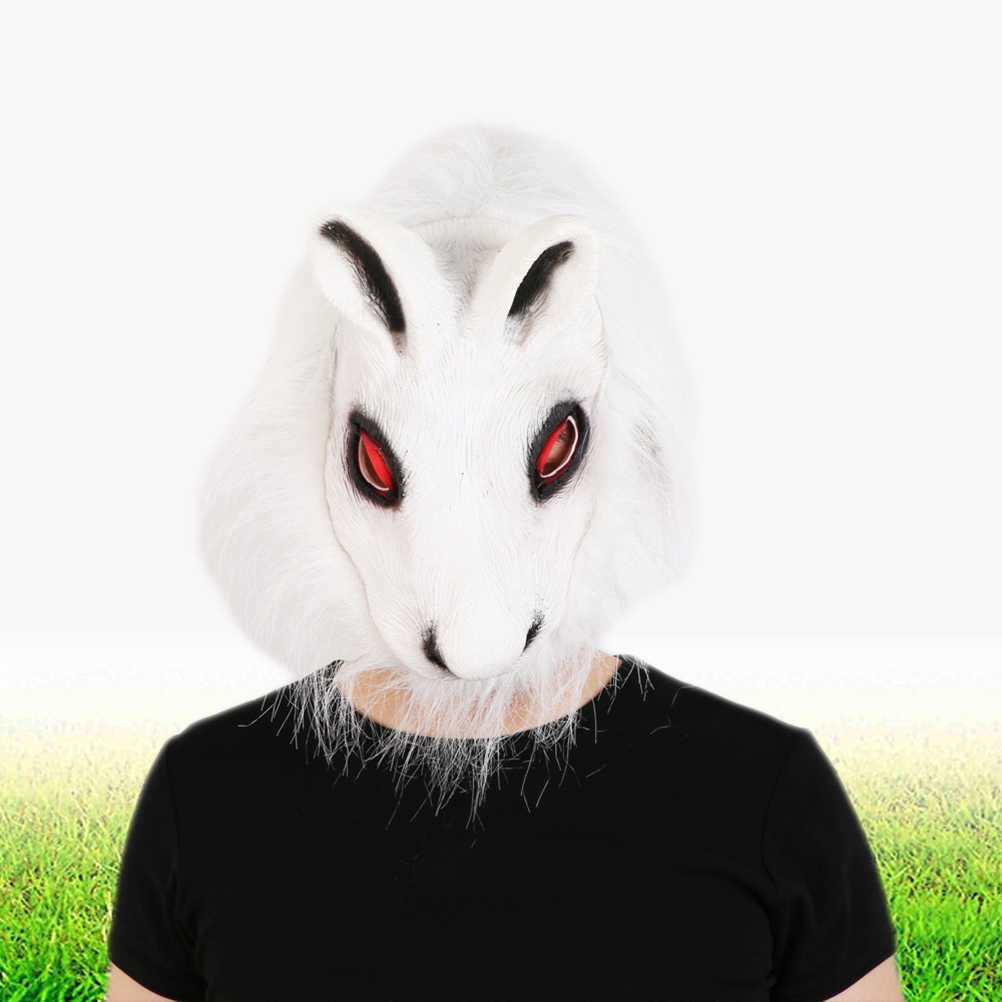 Маскарадный костюм реквизит для фокусов шалость Кролик Мех маска животного для Хэллоуина Вечерние