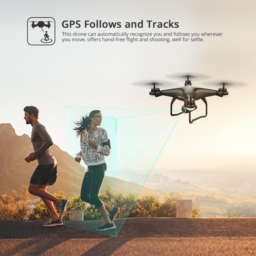 Holy Stone HS120D  GPS Drone FPV 1080p HD Camera Profissional Wifi RC Drones Selfie Follow Me Quadcopter 120°FOV  Quadrocopter 3