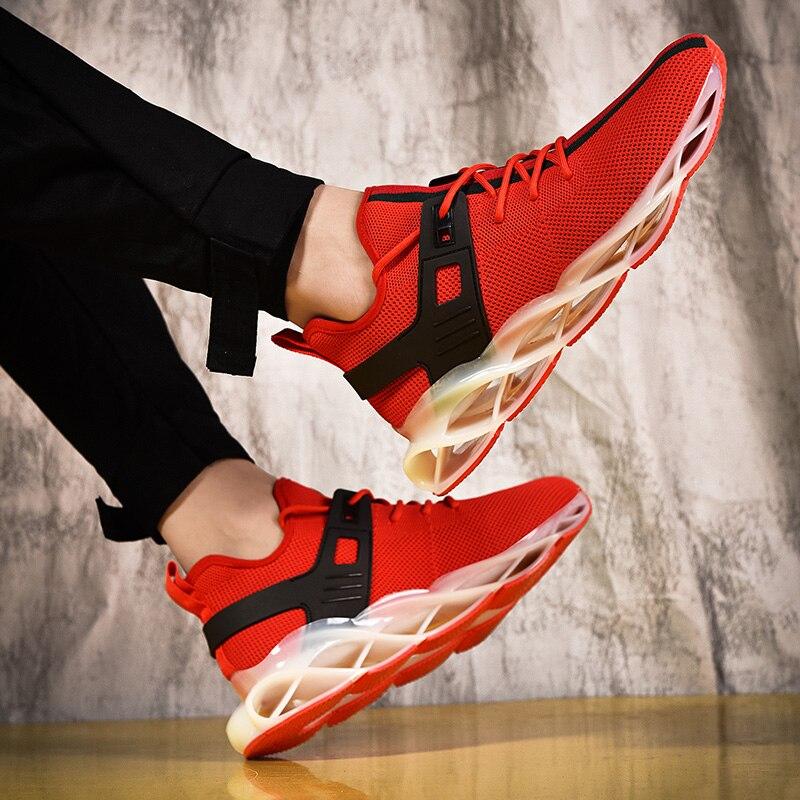 Осенняя коллекция 2019 года; модные роскошные Дизайнерские мужские туфли; Дизайнерские кроссовки на платформе; винтажные кроссовки с тройной... - 6