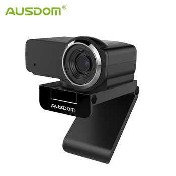 AUSDOM AW635 HD 1080P Streaming Webcam with Noise Cancelling Mic and Automatic Light Correction PC Cameras for OBS Skype YouTube
