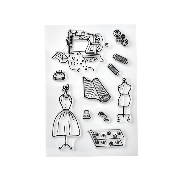 Tool Making Clothes Clear Stamps 2019 Rubber Transparent Silicone Seal for DIY Scrapbooking Photo Album Decorative Stamp Crafts
