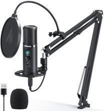 USB Mikrofon Kit Latenz Überwachung MAONO PM422 192KHZ/24BIT Professionelle Nieren Kondensator Mic mit Touch Stumm Taste