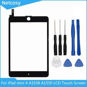 Image 1 - Netcosy のための iPad ミニ 4 A1538 A1550 液晶ディスプレイのタッチスクリーンデジタイザパネルアセンブリの交換 Ipad とミニ 4 交換