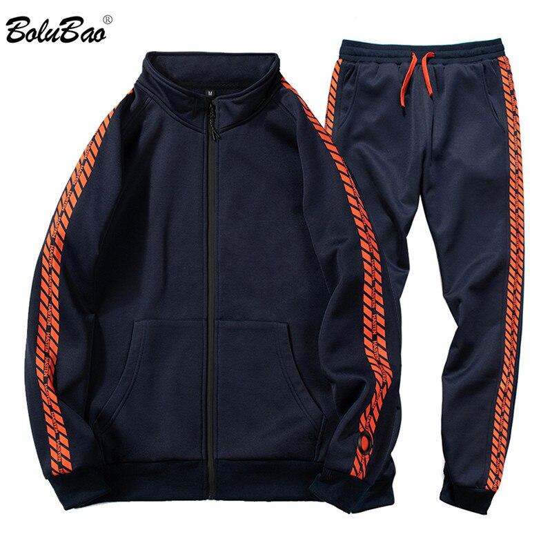 BOLUBAO Fashion Brand Men Sets Men's Tracksuits Round Neck Sweatshirts+Pants Casual Comfortable Male Sets